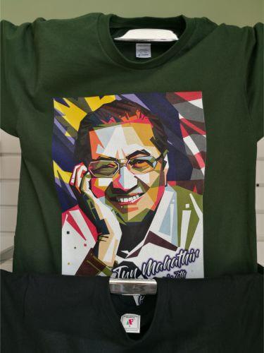 bjlx print dark t-shirt2