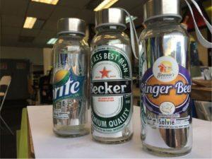 solviejet print bottle label chrome sticker